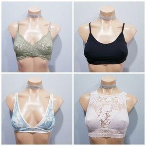 4 New Victoria's Secret bralette bra lot XS